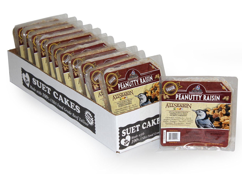 Heath Outdoor Products DD-12 Peanutty Raisin Suet Cake, Case of 12