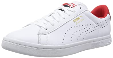 Puma Court Star Craft S6 - Sneakers Basses - Mixte Adulte - Blanc (White/High RiskRouge) - 46 EU (11 UK)