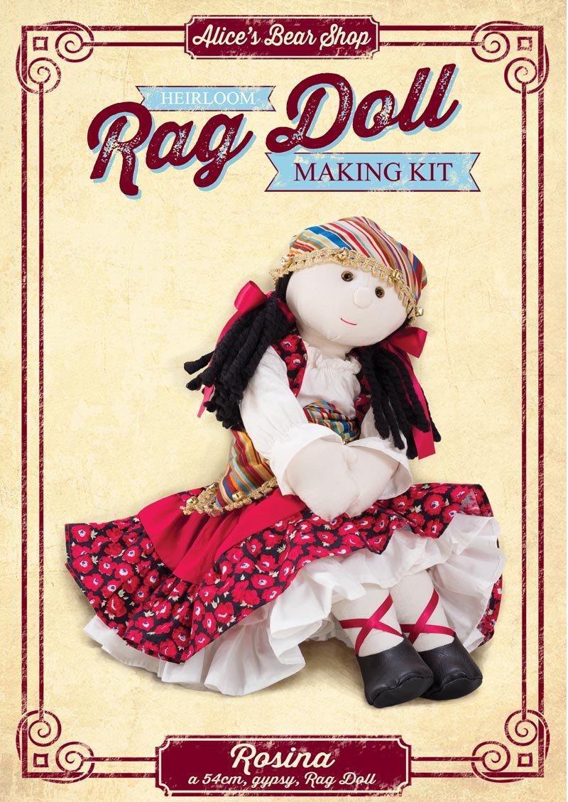 Rag Doll Making Kit Rosina - 54cm Alice's Bear Shop
