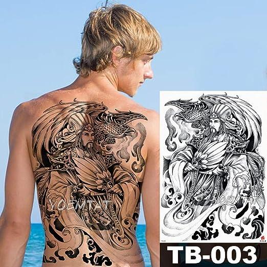 48 * 35 cm Samurai Warrior Warrior Pegatinas de Tatuaje Grande ...