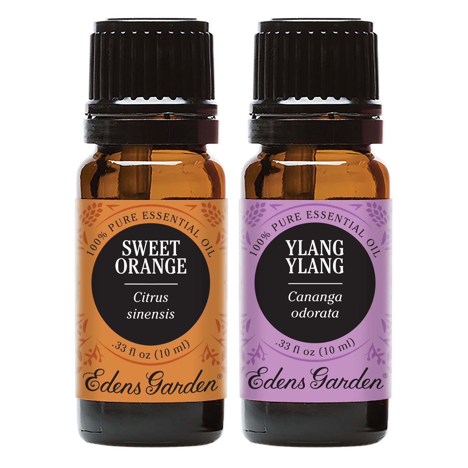 Edens Garden Sweet Orange & Ylang Ylang Essential Oil Set, Best 100% Pure Aromatherapy Starter Kit (For Diffuser & Therapeutic Use), 10 ml