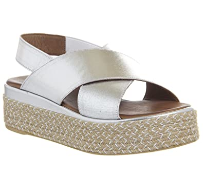 f5ca675ce605 Inuovo Cross Strap Wedge Silver - 8 UK  Amazon.co.uk  Shoes   Bags