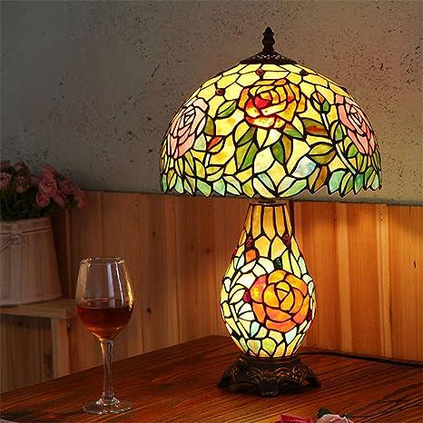 Lampada Da Tavolo Tiffany Da 12 Pollici Lampada Da Comodino Camera Da Letto Lampada Da Comodino In Vetro Colorato Amazon It Illuminazione