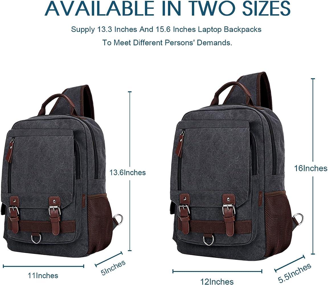 WOWBOX Sling Bag for Men Women Sling Backpack Laptop Shoulder Bag Cross Body Messenger Bag Fit 13.3 15.6 Laptop Tablet