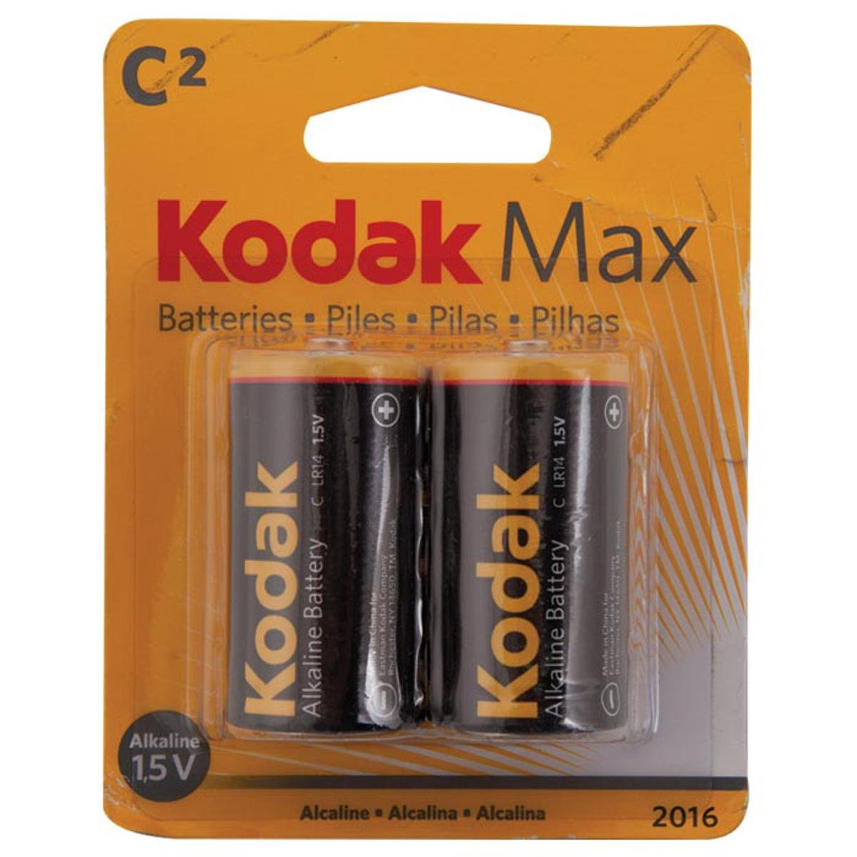 Kodak Xtralife Alkaline C Batteries 2 Pack Camera Arta Cutaway Diagram Show A Typical Cell Or Battery With Photo