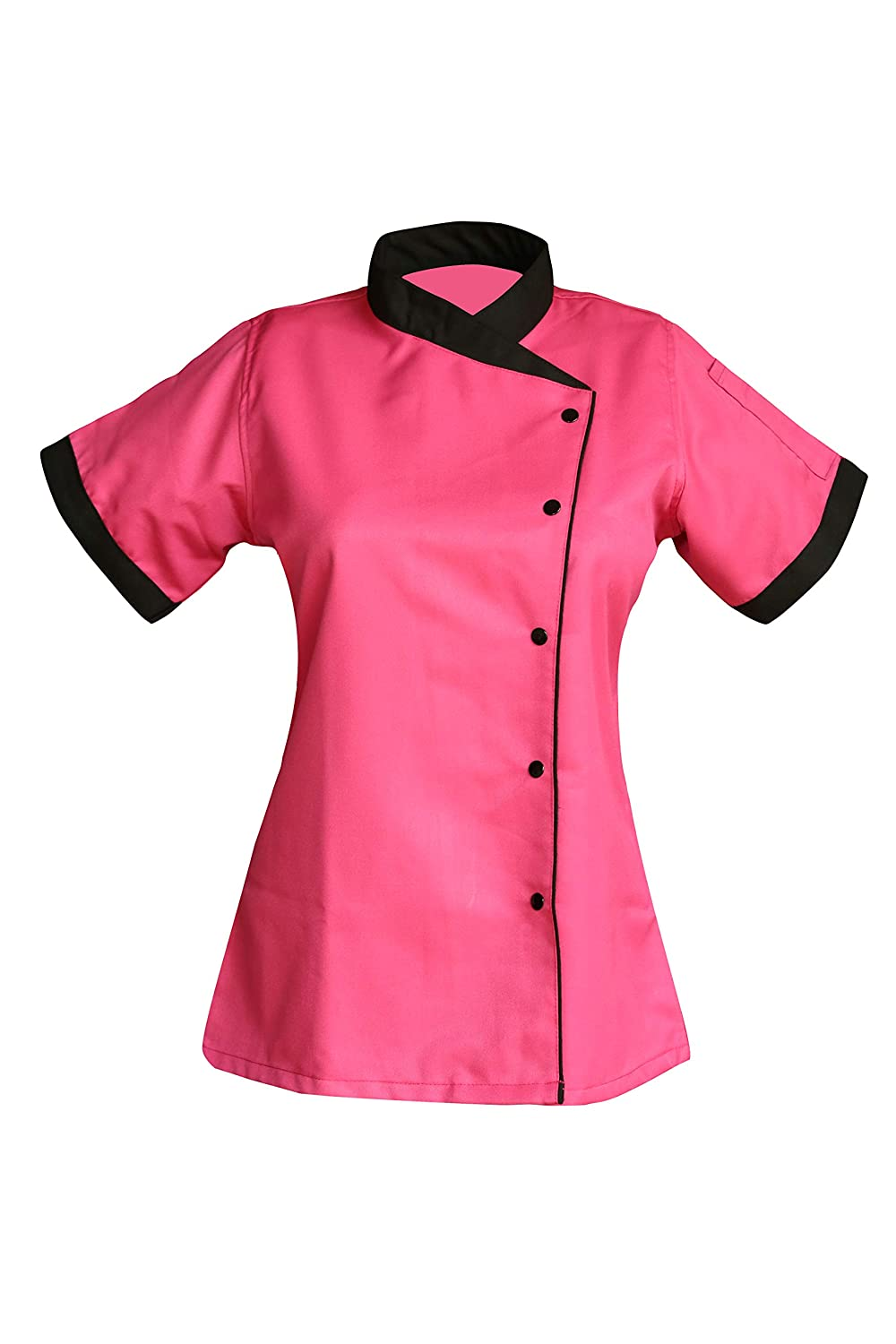 Uniformale Short Sleeves Only Ladies Women Chef Coat Jacket