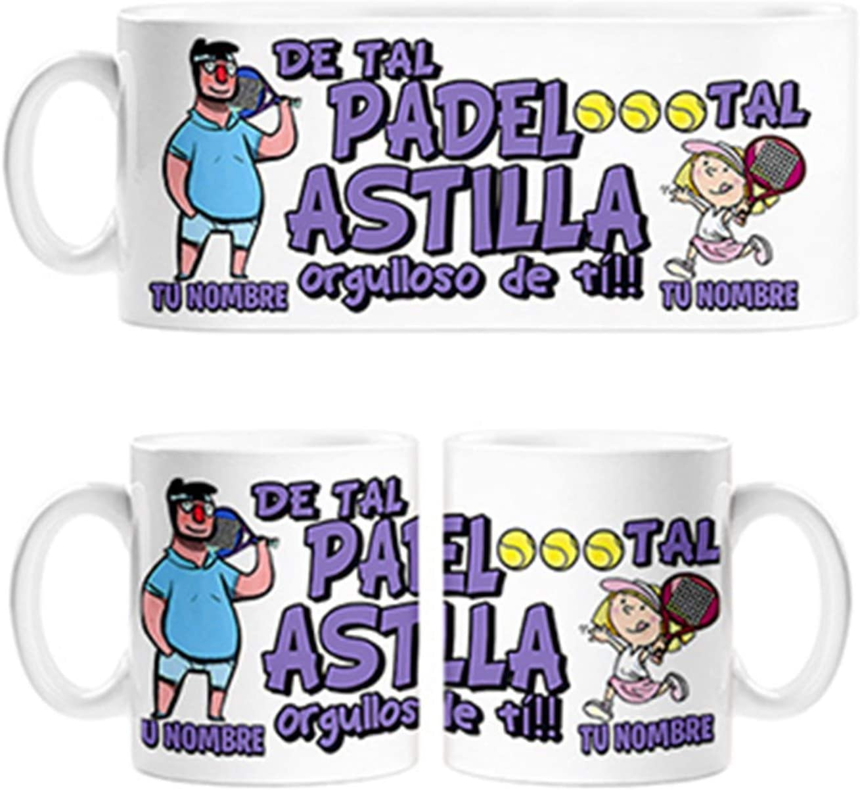 Diver Bebé Taza de Tal Palo Tal Astilla Jugador de Padel Hija Orgullosa de ti papá Personalizable con Nombre - Cerámica