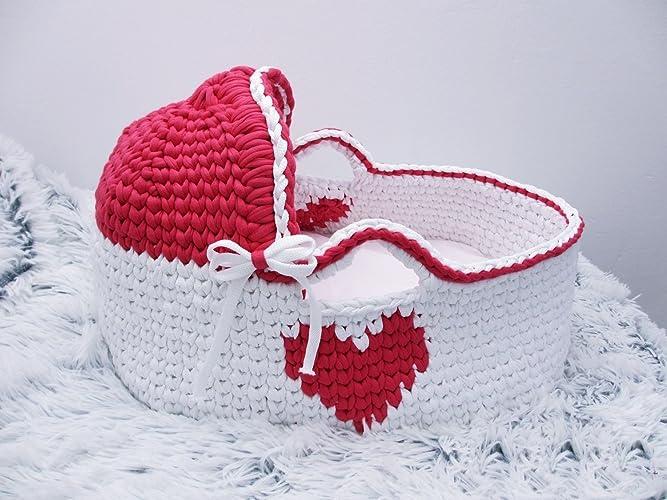 Amazon Com Newborn Moses Basket Crochet Basket Baby Bassinet Baby