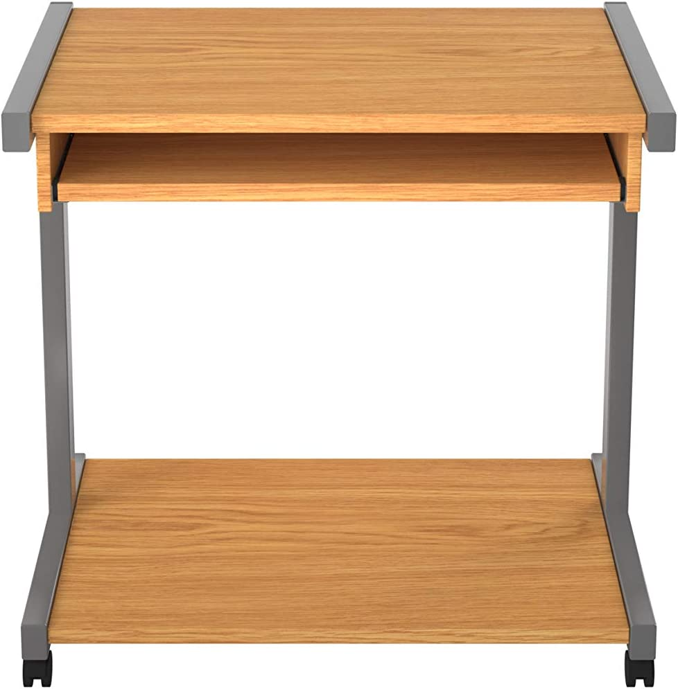 Oak Office Hippo Mobile Home Office Desk With Pull Out Shelf 79.4 x 51 x 76.5 cm