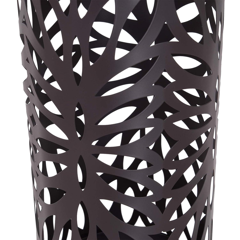 Metallo Marrone /Φ19,5x50 cm homcom Portaombrelli Design Moderno con 2 Ganci e Salvagoccia