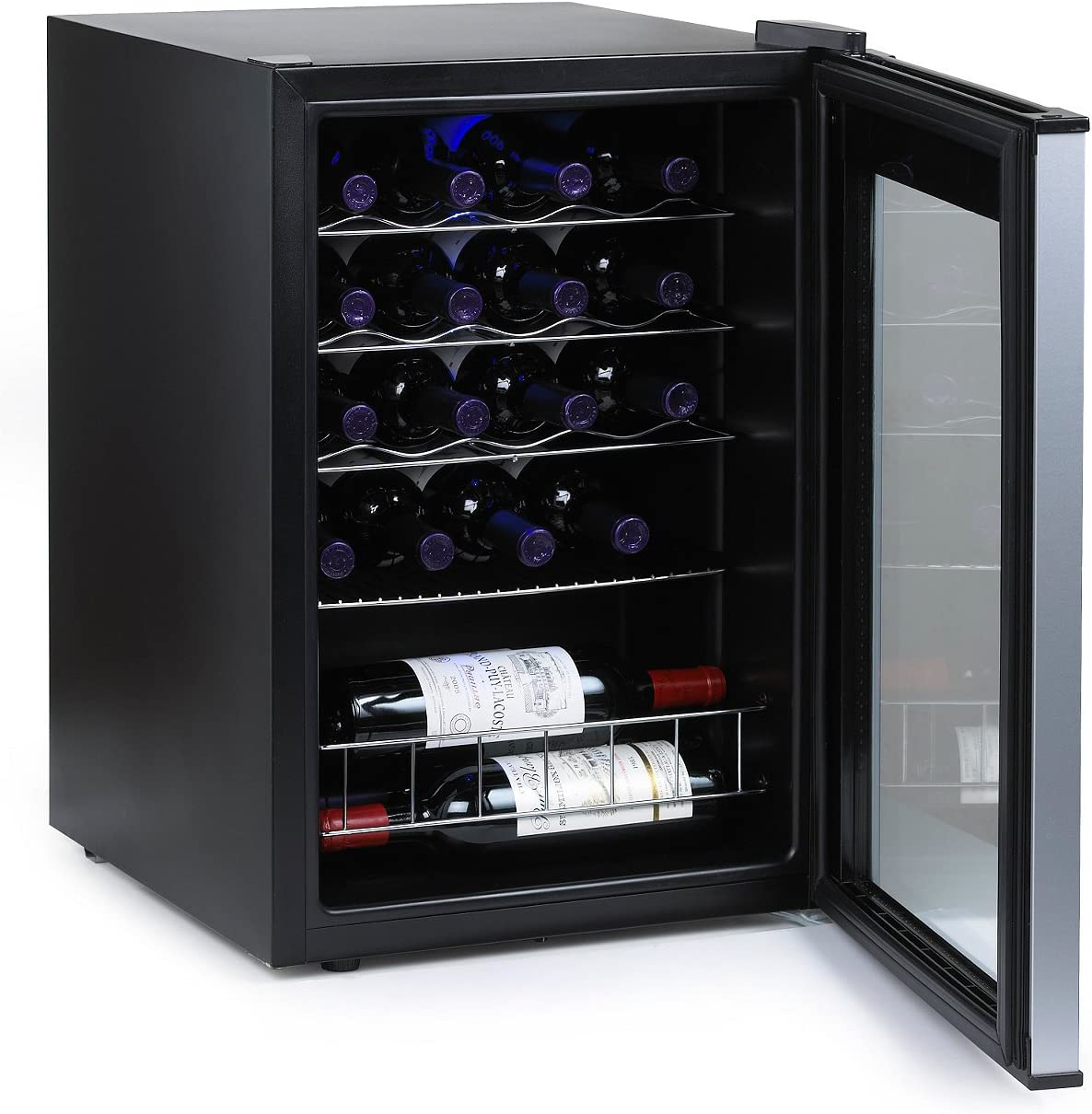 3. Wine Enthusiast Silent 18 Bottle Wine Cooler