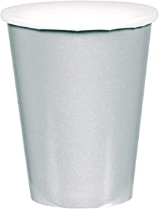 Amscan Silver Paper Cups, 9 Oz., 20 Ct. | Party Tableware