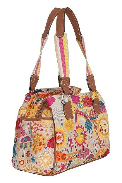 Amazon.com: Lily Bloom Triple Section Landon Multi-Purpose Satchel Bag (SPRING SHOWERS): Shoes