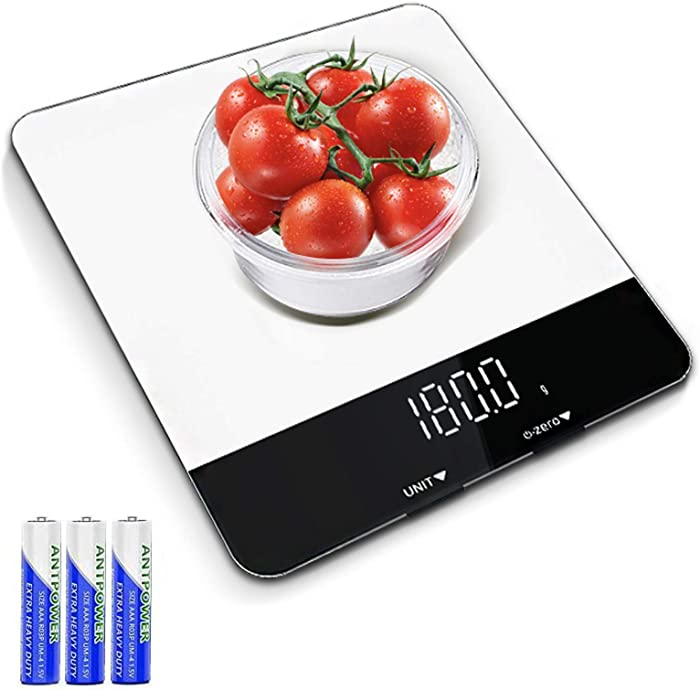 Food Scale with LED Display - Multipurpose DigitalFood Kitchen Scale Weight Grams and oz for Cooking/Baking/Dieting, 1g Precise Graduation