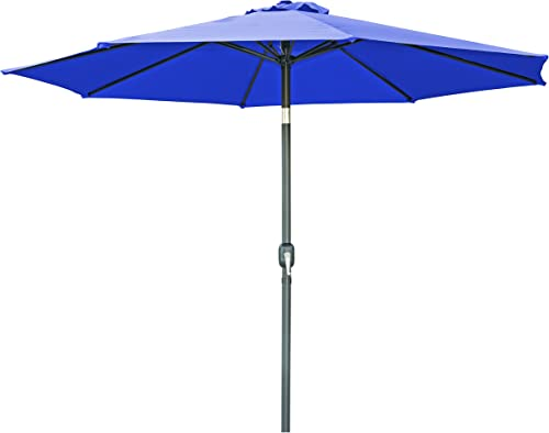 Trademark Innovations Tilt Crank Patio Umbrella – 9 Blue