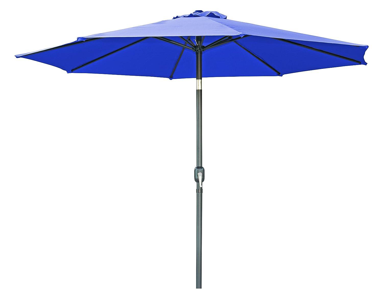 Trademark Innovations Tilt Crank Patio Umbrella – 9 Blue
