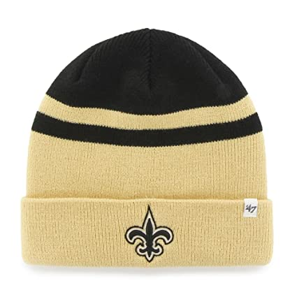 d6dbe22c4ddae4 Image Unavailable. Image not available for. Color: '47 New Orleans Saints  Beanie Cedarwood Cuff Knit Cap