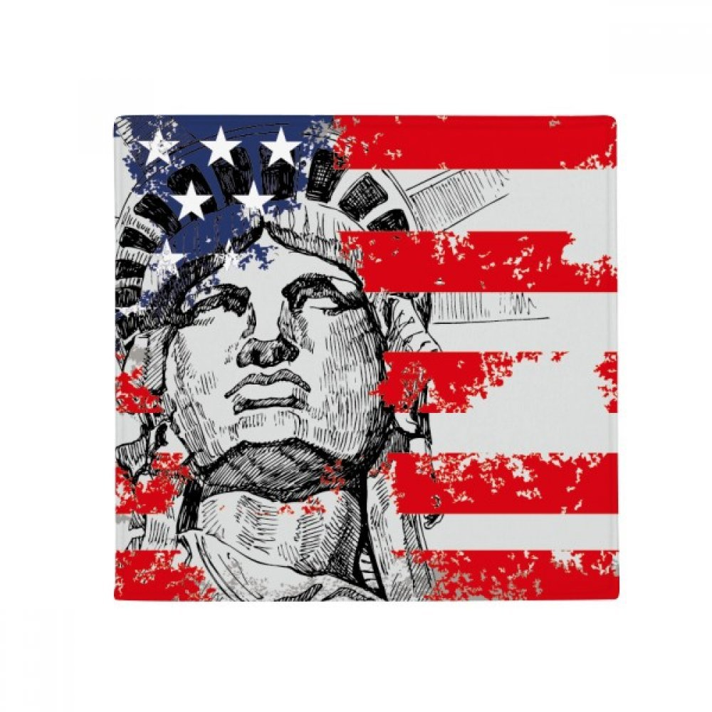 60X60cm DIYthinker Statue of Liberty America Flag Country City Anti-Slip Floor Pet Mat Square Bathroom Living Room Kitchen Door 60 50Cm Gift