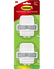 Command Mop & Broom Holder Wall Mount, Holds up to 4 lbs, 2-Pack Grippers
