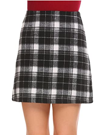 f6f330072 Image Unavailable. Image not available for. Color: Shine Women's A-line Plaid  Mini Skirt
