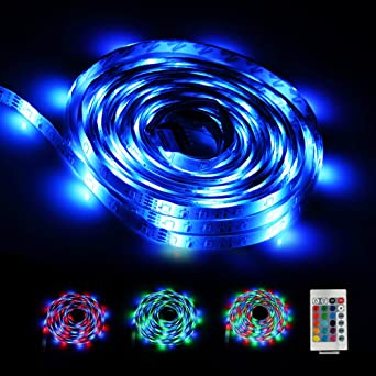 LED Strip 5M, LED Band, Infinitoo Led Streifen 5M 2835 RGB 300er LEDs Mit