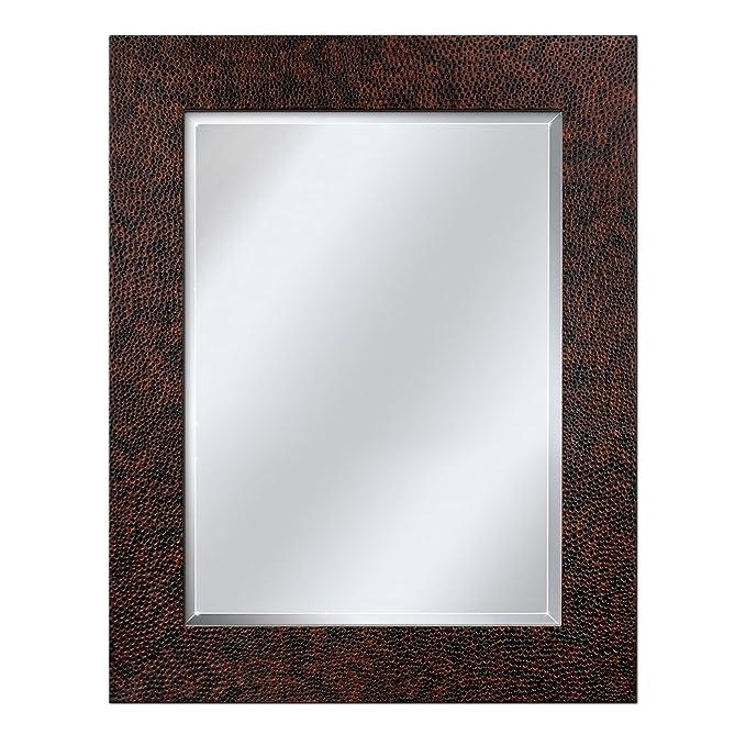 Head West Hammered Bronze Mirror, 29-Inch by 35-Inch