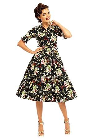 "Ladies Retro Vintage 1940s"" Maria Shirt Dress"