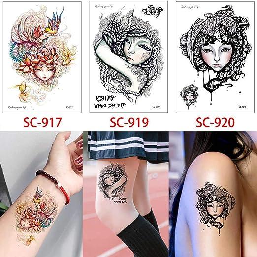 adgkitb 2 Piezas de Dibujos Animados Tatuaje Temporal Pegatina ...
