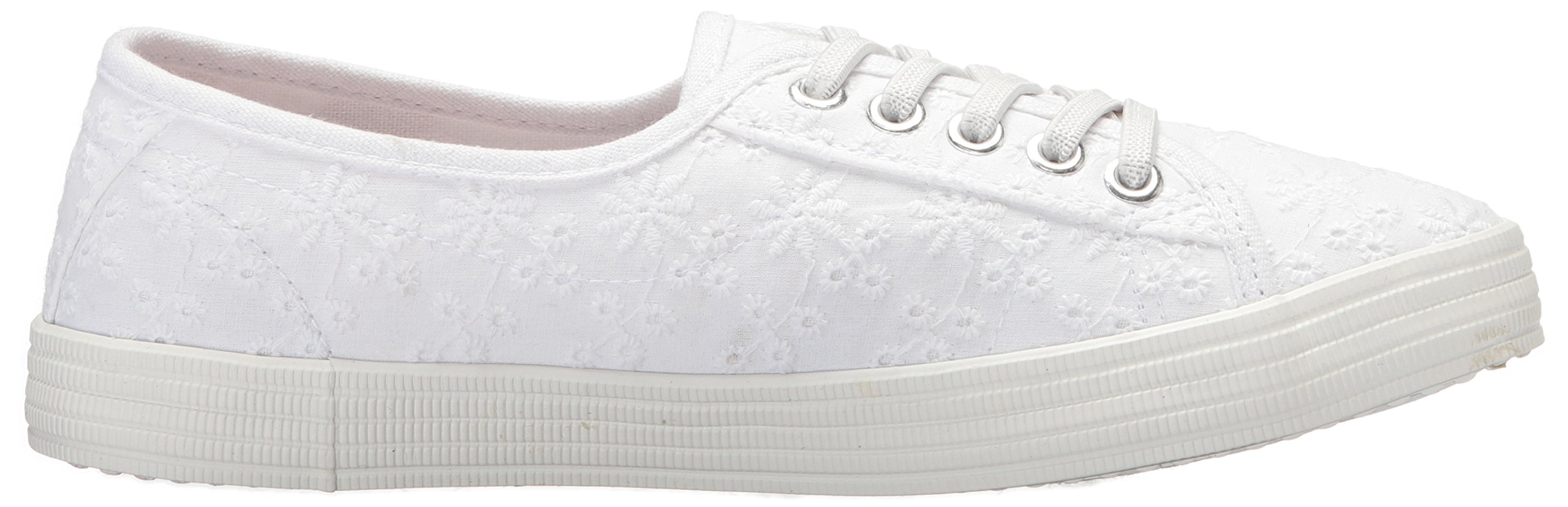 Rocket Dog Women's Chowchow Lucky Eyelet Cotton Sneaker, White, 9.5 Medium US by Rocket Dog (Image #6)