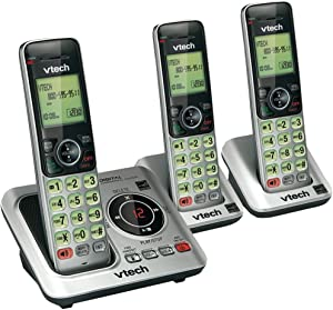 VTECH VTCS6629-3 DECT 6.0 Expandable Speakerphone with Caller ID (3-Handset System)