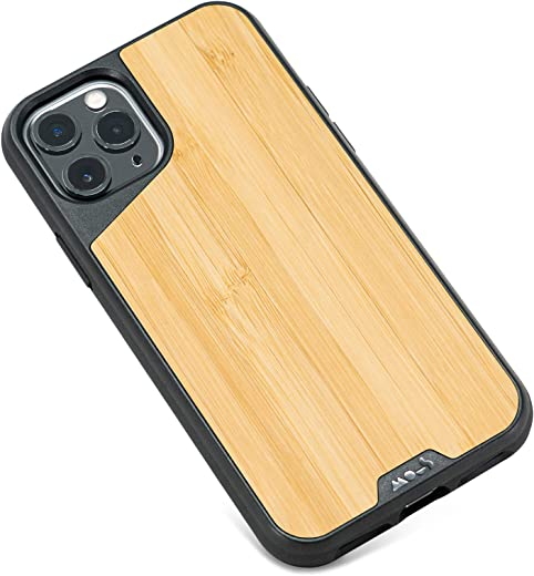 Mous - Protective Case for iPhone 11 Pro Max - Limitless 3.0 - Bamboo - No Screen Protector