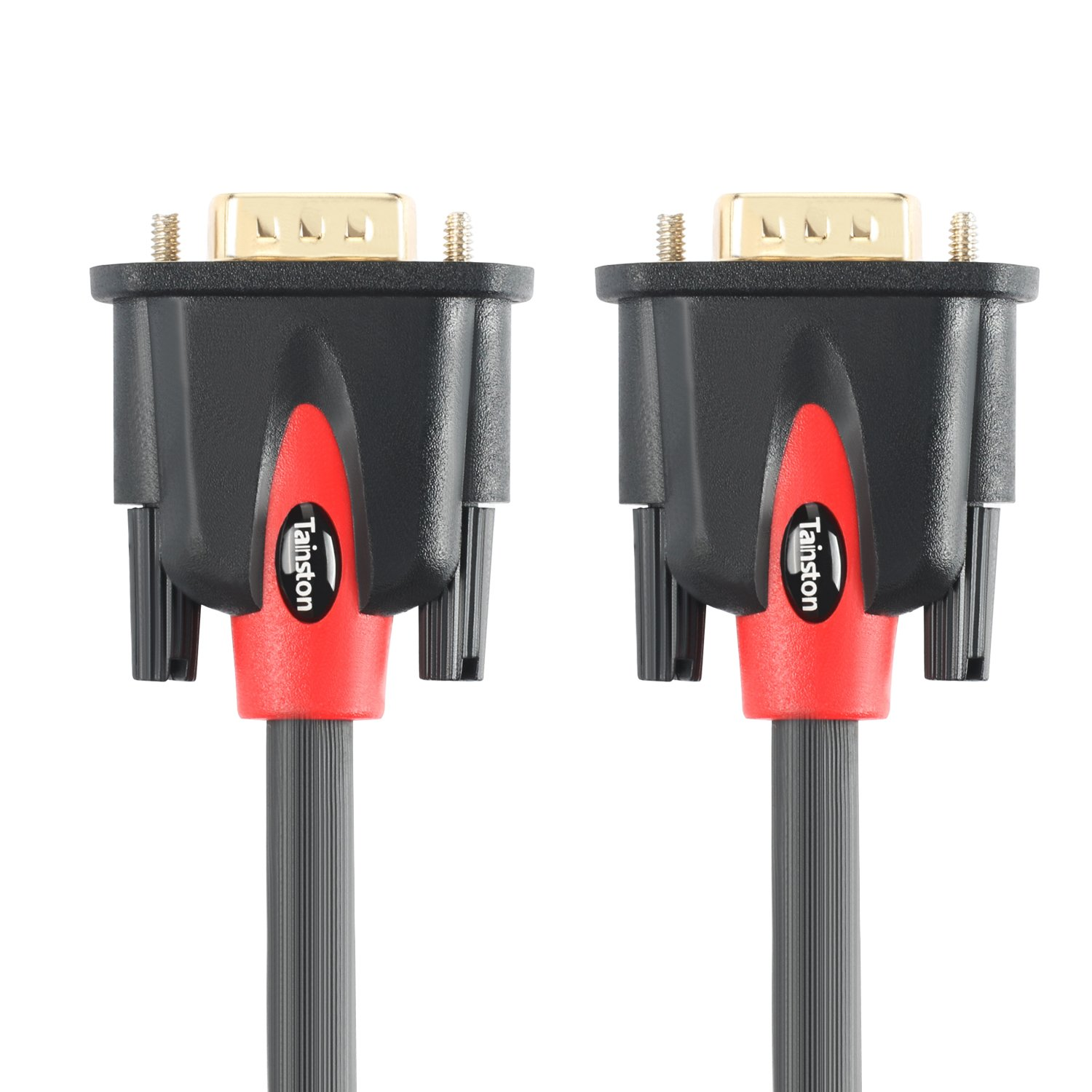 Tainston VGA to VGA Cable HD15 Monitor Cable with Ferrites Male to Male-20 Feet by Tainston
