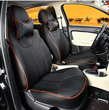 Autodecorun Full Set 7 Seats Complete Car Seat Cover Leatherette For