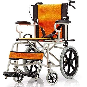 Silla De Ruedas Transporte Portátil Silla De Ruedas Plegable Silla De Viaje Portátil Discapacitado Ancianos Inflable Empuje Manual Silla De Ruedas: ...