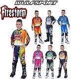WULF FIRESTORM Wulfsport 2018 New Firestorm Kids Jersey and Pants Suit for Motocross Quad Bike Off Road