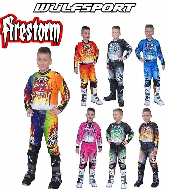 Wulf Moto de Moto niños Trajes WULFSPORT Arena Motocross ATV ...