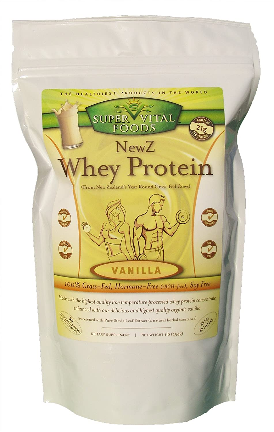 NewZ Whey Protein Vanilla 1LB – 100 Grass Fed New Zealand Whey – Low Temperature Processed