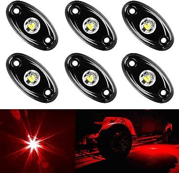 LED Motorcycle//Car//Truck//ATV//UTV//Boat Universal 12V Accent Light Kit RED