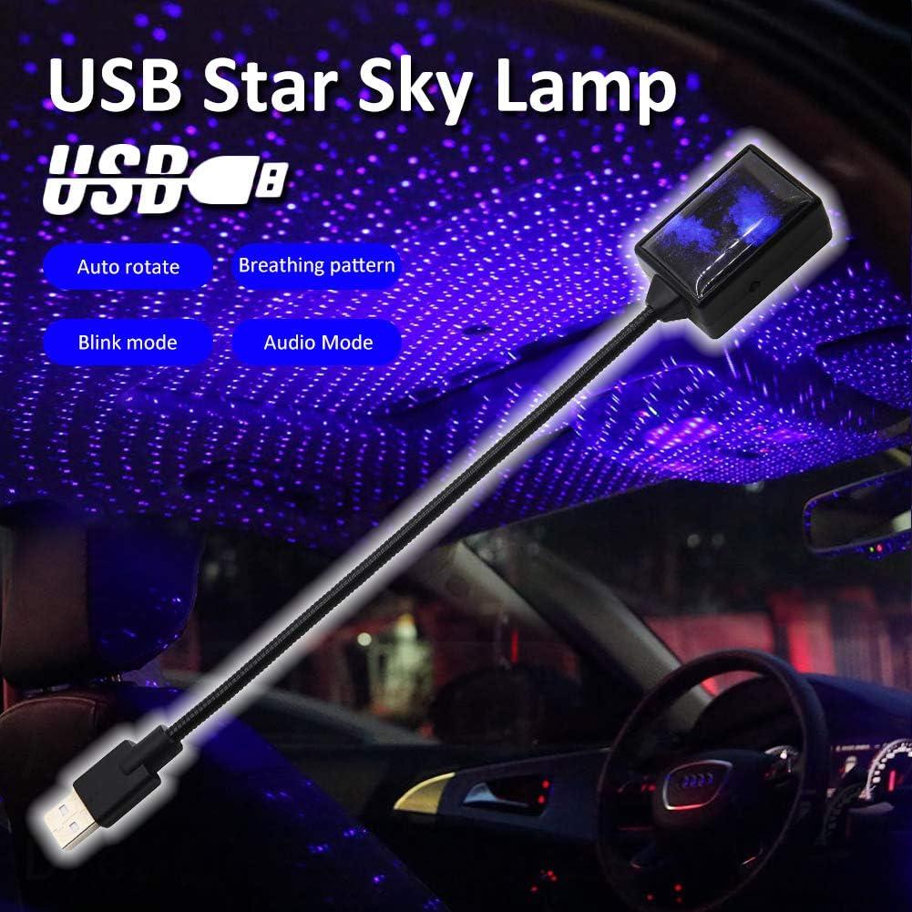 Mcuilee Led Autodach Sternlicht Verbesserte Usb Atmosphäre Ambient Stern Projektor Nachtlicht Auto Innenraum Decke Led Romantische Dekorative Beleuchtung Auto