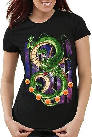 style3 Shenlong Dragón Camiseta para Mujer T-Shirt Shenron Z Goku Vegeta Roshi Ball