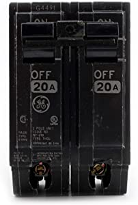 GE THQL2120 Plug-In Circuit Breaker, 2-Pole, 20-Amp, 120/240-Volt (5 Pack)
