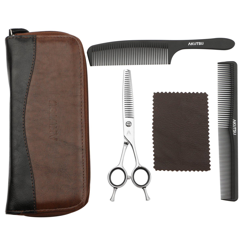 AKUTSU Salon Professional 6.0'' Hair Thinning/Texturizing Shears 17/23/35 Teeth Razor Edge Barber Scissors with Finger Inserts (23 Teeth) by AKUTSU (Image #6)