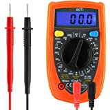 Digital Multimeters, RexBeTi Electronic Multimeter with Ohm Volt Amp and Diode Voltage Tester Meter, Backlight LCD Display