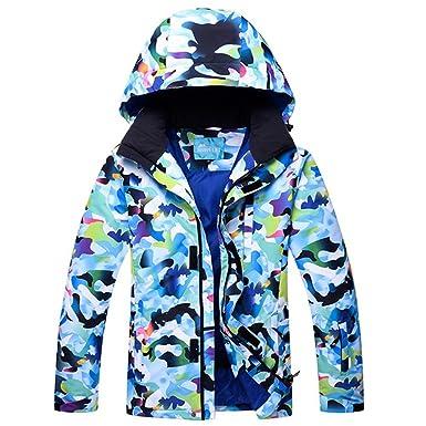 356cd24e19 HOTIAN Mens Corlorfull Ski Jacket Wear Waterproof Windproof Ski Coat Snow  Fleece Jacket
