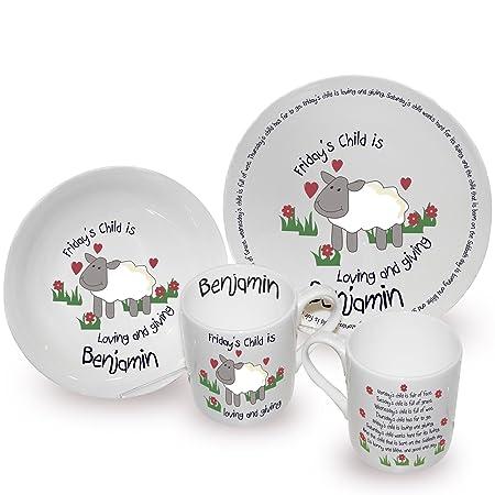 Childrenu0027s Personalised Fridays Child Breakfast Set Plate Bowl Mug Gift  sc 1 st  Amazon UK & Childrenu0027s Personalised Fridays Child Breakfast Set Plate Bowl Mug ...