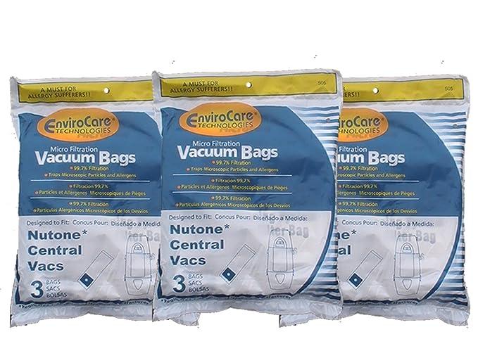 Amazon.com: 9 Bolsas para aspiradora (Central NuTone Broan ...