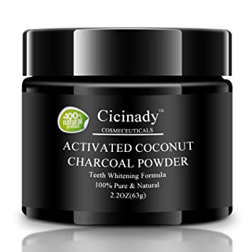 Amazon Com Charcoal Teeth Whitening Powder By Cicinady 2 2 Oz
