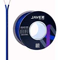 16-Gauge AWG JAVEX Speaker Wire OFC Oxygen-Free Copper 99.9% Cable for Hi-Fi Systems, Mixer, Amplifiers, AV receivers…