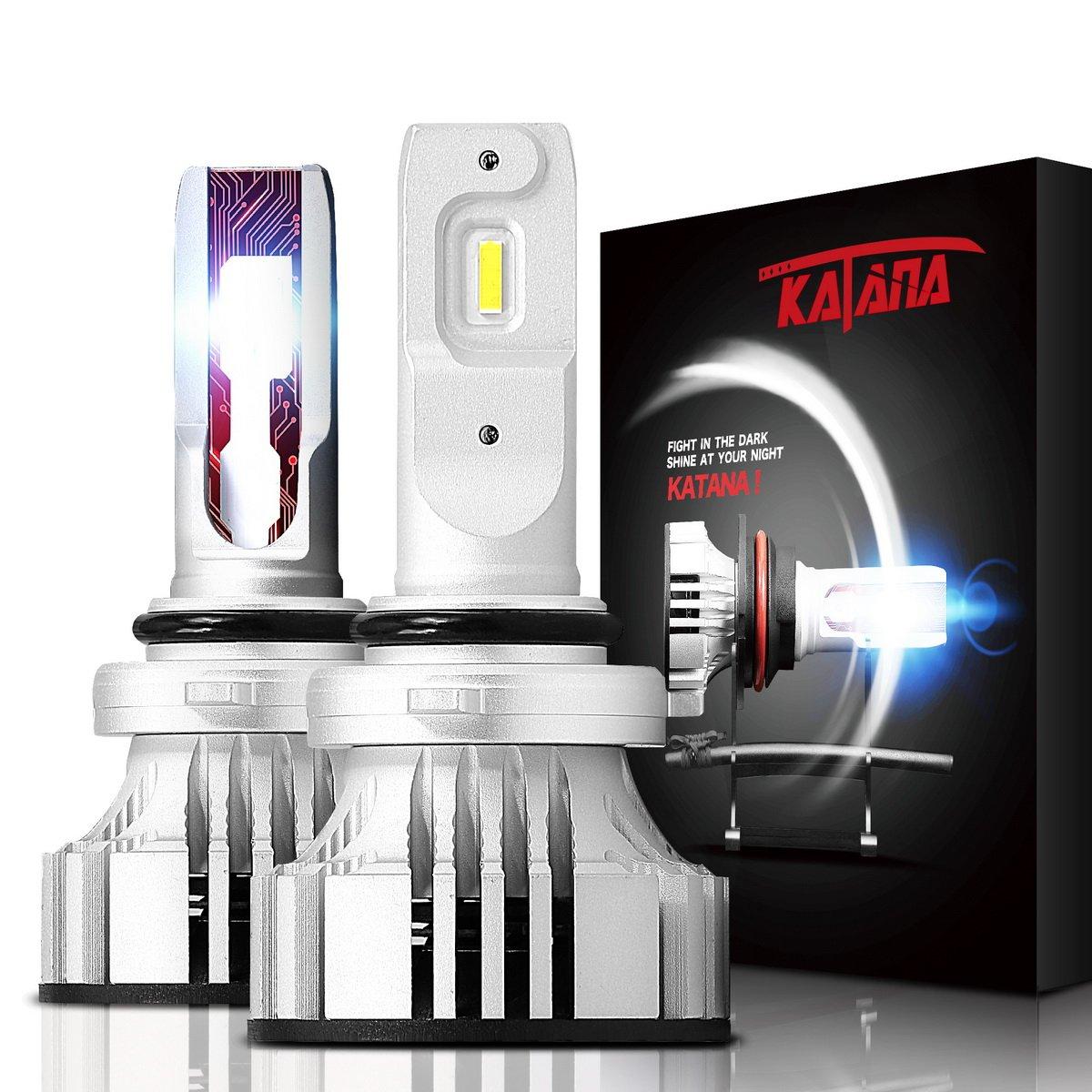 12000Lm 6500K Extremely Bright Conversion Kit CREE Chips w//Adjustable Beam KATANA H4 9003 LED Headlight Bulbs