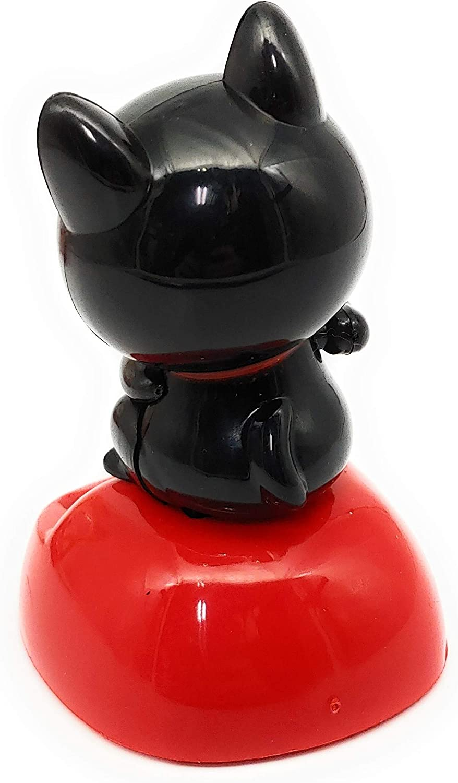 TAKEDA Corp Noir Maneki Neko Solaire Swing Mascot The Lucky Cat est Beckoning